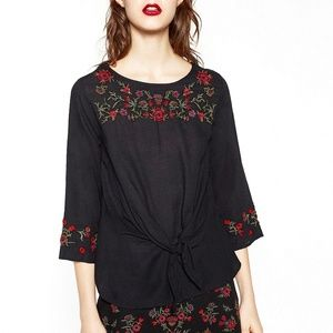 Zara Collection Embroidered Blouse